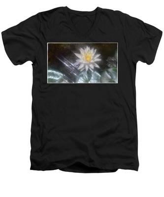 Water Lily In Sunlight Men's V-Neck T-Shirt