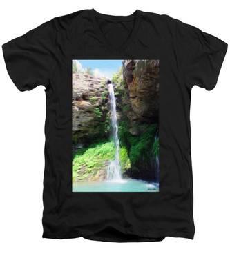 Waterfall 2 Men's V-Neck T-Shirt