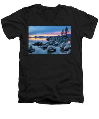 Colorful Sunset At Sand Harbor Men's V-Neck T-Shirt
