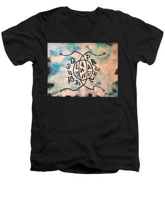 Mental Clarity Circuit Men's V-Neck T-Shirt