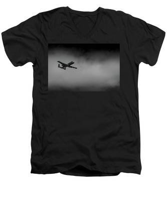 Out Of The Clouds - A-10c Thunderbolt Men's V-Neck T-Shirt