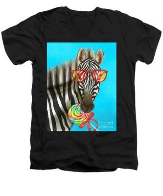 Party Safari Zebra Men's V-Neck T-Shirt