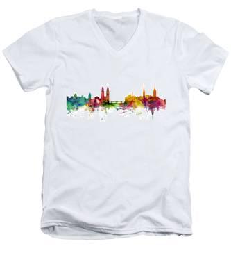 Zurich Switzerland Skyline Men's V-Neck T-Shirt