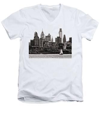 Center City Philadelphia Men's V-Neck T-Shirt