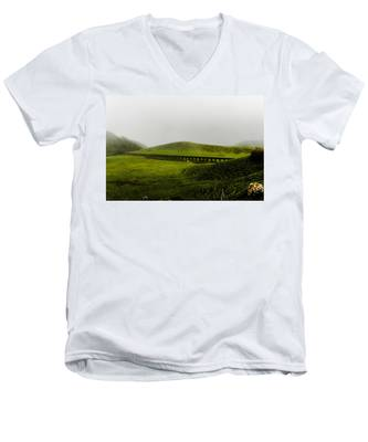 Men's V-Neck T-Shirt featuring the photograph When The Romans Came by Joseph Amaral