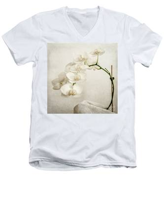 Beautiful White Orchid II Men's V-Neck T-Shirt