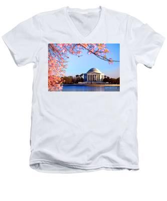 Cherry Jefferson Men's V-Neck T-Shirt