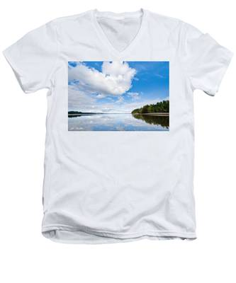 Clouds Reflected In Puget Sound Men's V-Neck T-Shirt