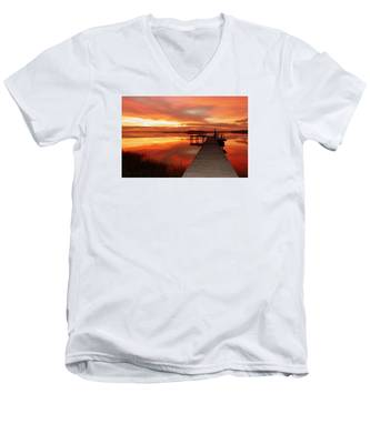 Dawn Of New Year Men's V-Neck T-Shirt