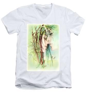 Encounter  From Love Angels Series Men's V-Neck T-Shirt