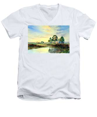 Evening Falls Men's V-Neck T-Shirt