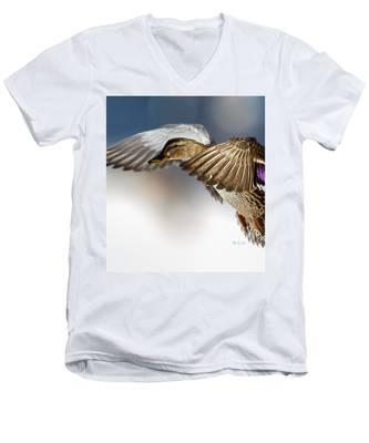 Flight Of The Mallard Men's V-Neck T-Shirt