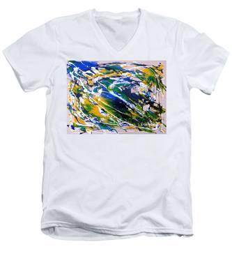 Flying Bird Men's V-Neck T-Shirt