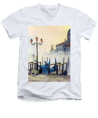 Lumi Di Candelbro Men's V-Neck T-Shirt