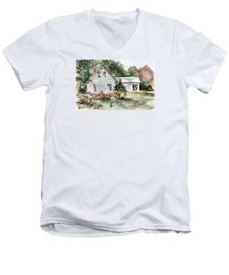 Maine Sunshine Men's V-Neck T-Shirt