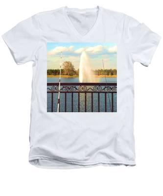 Man Made Rainbow Men's V-Neck T-Shirt