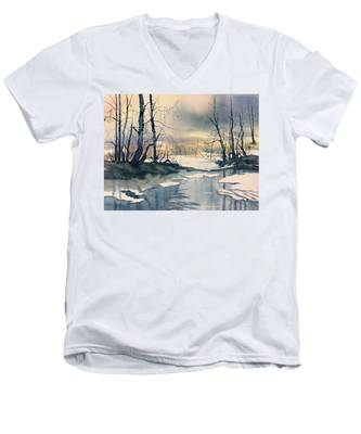 Melt Water On Skipwith Common Men's V-Neck T-Shirt