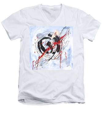 Musical Abstract 002 Men's V-Neck T-Shirt