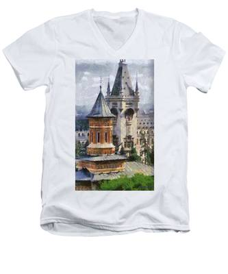 Palace Of Culture Men's V-Neck T-Shirt