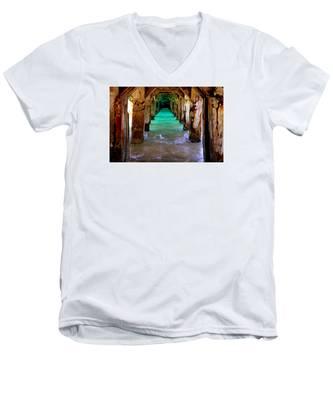 Pillars Of Time Men's V-Neck T-Shirt