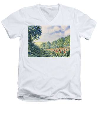 Poppies A'plenty Men's V-Neck T-Shirt