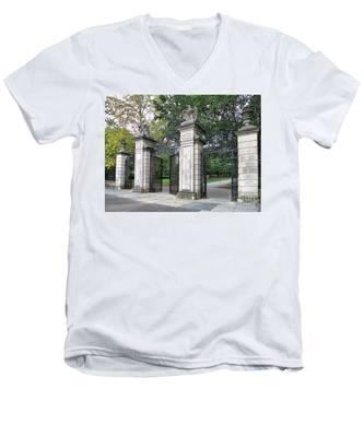 Princeton University Main Gate Men's V-Neck T-Shirt