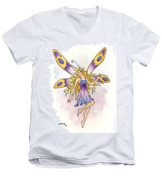 Spring Fairy Men's V-Neck T-Shirt