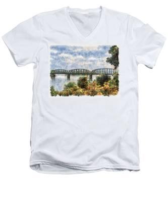 Strang Bridge Men's V-Neck T-Shirt