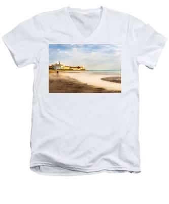 Take A Walk At The Beach Men's V-Neck T-Shirt