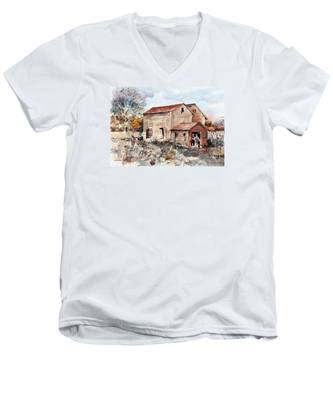 Texas Barn Men's V-Neck T-Shirt