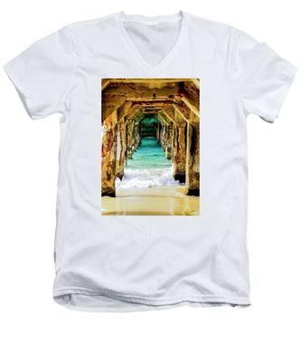 Tranquility Below Men's V-Neck T-Shirt