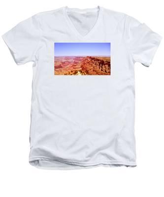 horizon in Grand Canyon Men's V-Neck T-Shirt