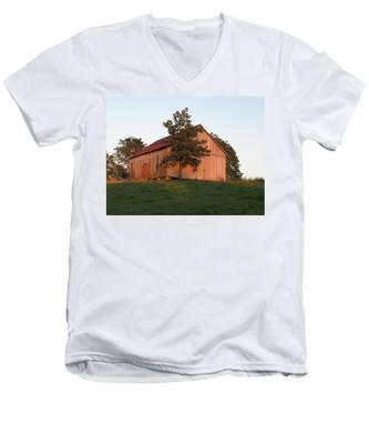 Tobacco Barn II In Color Men's V-Neck T-Shirt