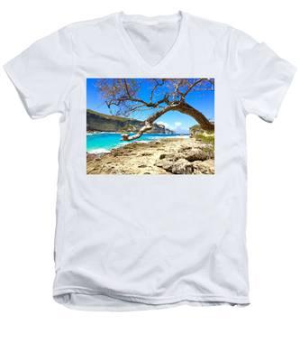 Porte D Enfer, Guadeloupe Men's V-Neck T-Shirt