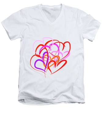All About Love Men's V-Neck T-Shirt