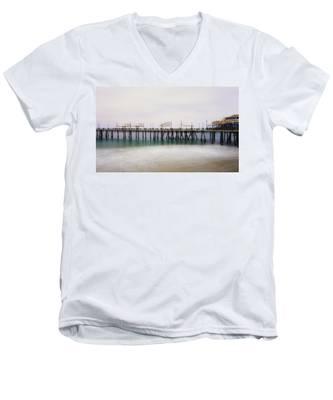 All Quiet On Redondo Pier Men's V-Neck T-Shirt