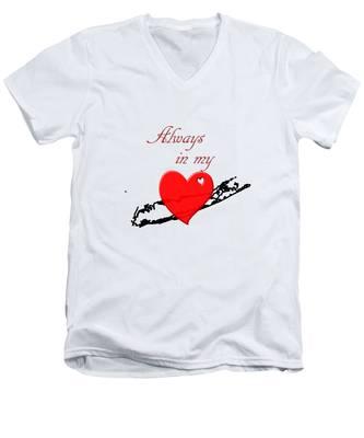 Always In My Heart Li Men's V-Neck T-Shirt