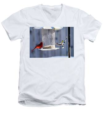 American Goldfinch Inbound Men's V-Neck T-Shirt
