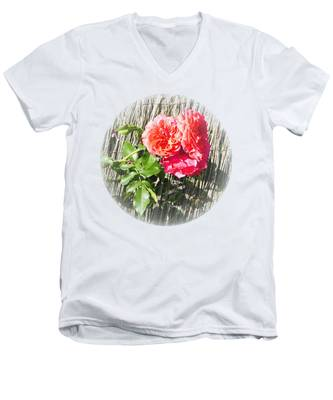 Floral Escape Men's V-Neck T-Shirt