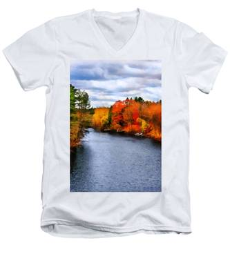 Autumn Channel Men's V-Neck T-Shirt