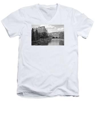 Bath On Avon By Mike Hope Men's V-Neck T-Shirt