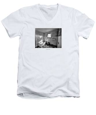 Men's V-Neck T-Shirt featuring the photograph Bathroom Sound by Joseph Amaral