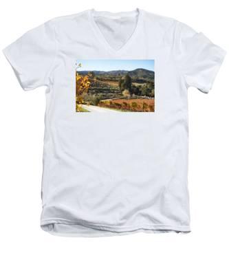 Benziger Winery Men's V-Neck T-Shirt