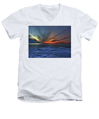 Eastern Lights  Men's V-Neck T-Shirt