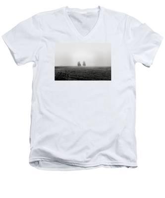 Fine Art Back And White244 Men's V-Neck T-Shirt by Joseph Amaral