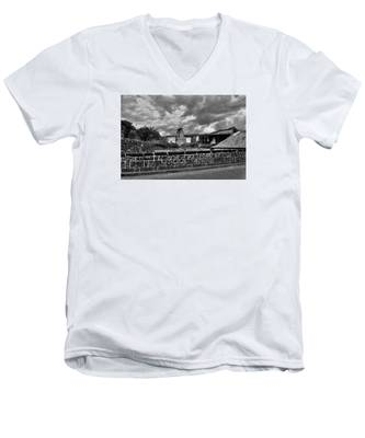Fine Art Back And White271 Men's V-Neck T-Shirt by Joseph Amaral