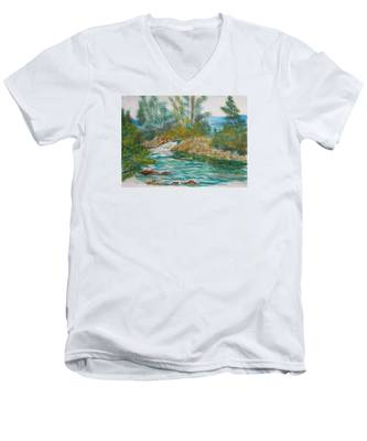 First Watercolour Men's V-Neck T-Shirt