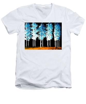 Forest Of Nightmares  Men's V-Neck T-Shirt