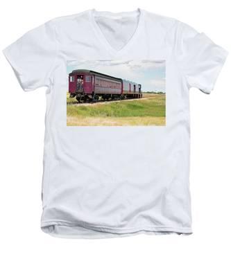 Heading To Town Men's V-Neck T-Shirt