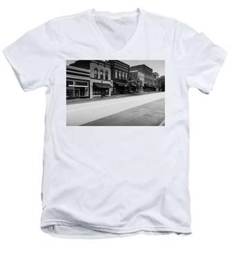 Historic Buford Downtown Area Men's V-Neck T-Shirt